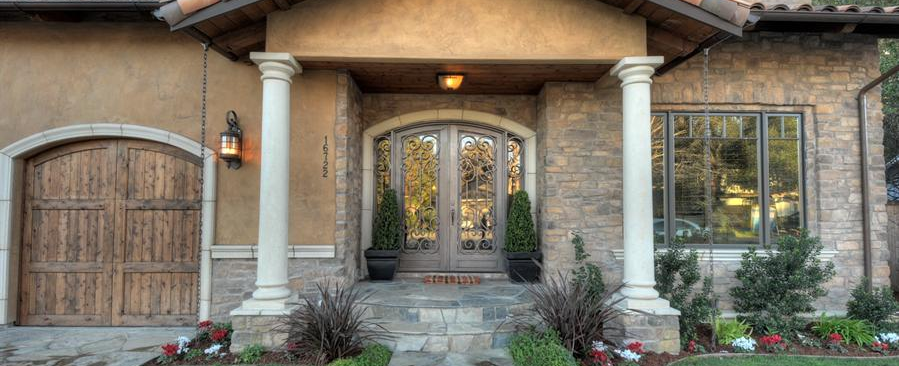 exterior iron doors los angeles, woodland hills