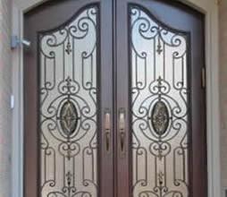 Wrought Iron Originals Iron Double Doors 10202 Wrought