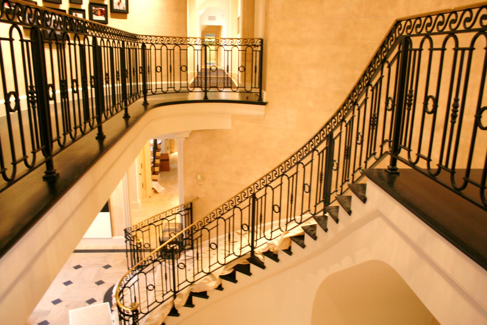 ... Interior Wrought Iron Stair Railings ...