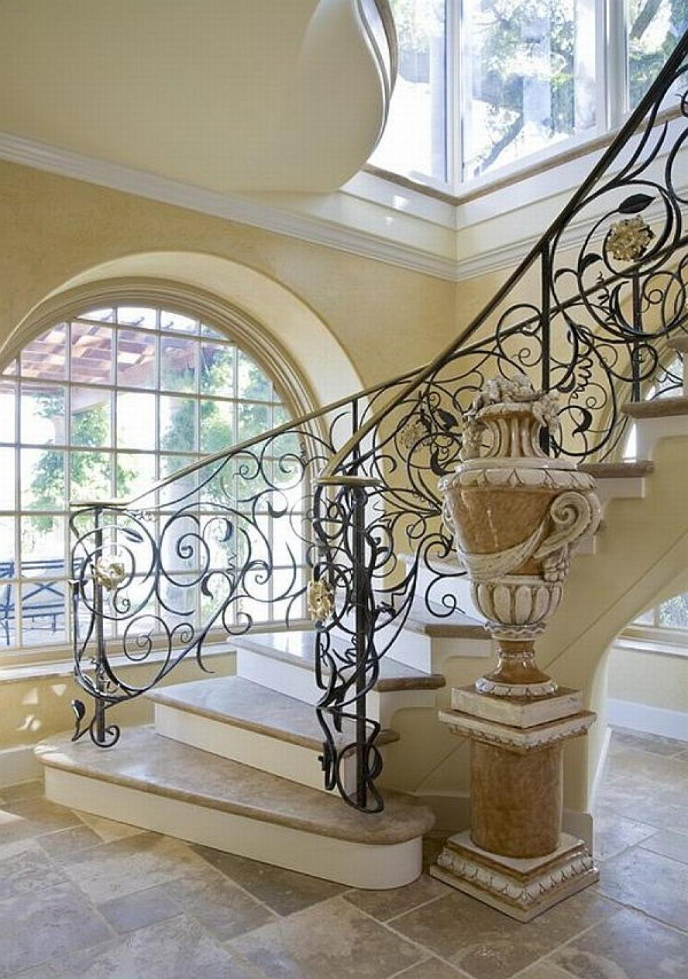 Wrought iron originals wrought iron outdoor stair for Spiral staircase design plans