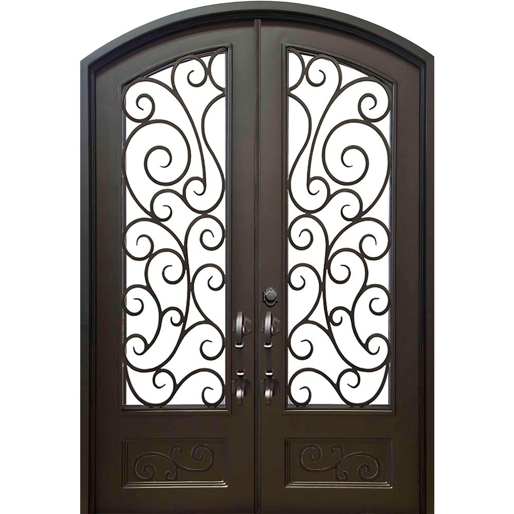Wrought Iron Originals Iron Double Doors 10109 Wrought Iron