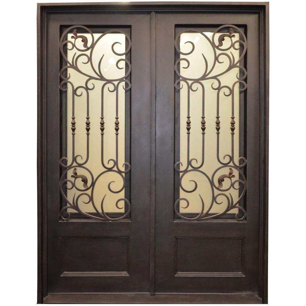 Wrought Iron Originals | Iron Double Doors 10091 - Wrought Iron ...