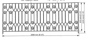 Iron Handrails Model 13715