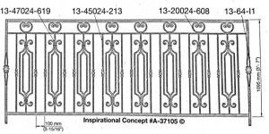 Iron Handrails Model 37105