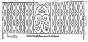 Iron Handrails Model 38108