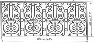 Iron Handrails Model 13572