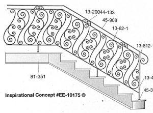 Iron Stair Handrails 81-351