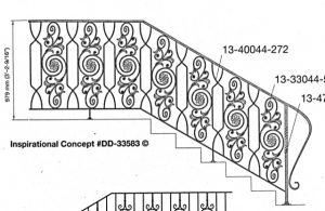 Iron Stair Handrails 33583