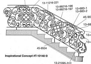 Iron Stair Handrails Handrails 45-9504