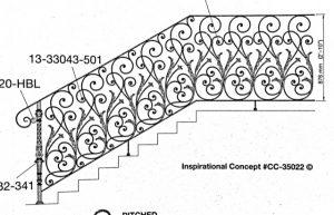 Iron Stair Handrail 35022