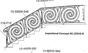 Iron Stair Handrails 37010