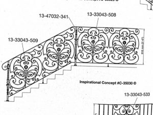 Iron Stair Handrails 35030