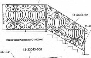 Iron Stair Handrail 35029