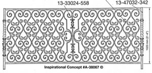 Iron Handrails Model 38067