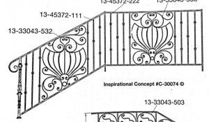Iron Stair Handrail 30074