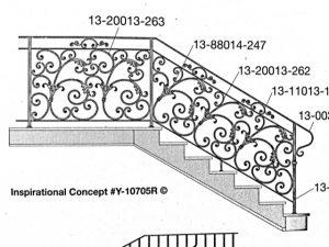 Iron Stair Handrail 10705