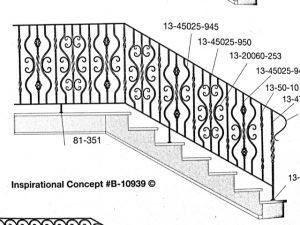 Iron Stair Handrails 10939