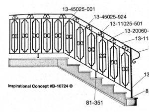 Iron Stair Handrails 85-351