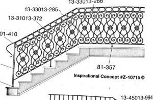 Iron Stair Handrails 10715
