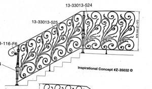 Iron Stair Handrail 10147k