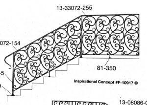 Iron Stair Handrail 10912