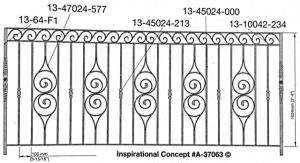 Iron Handrails Model 37063