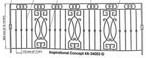 Iron Handrails Model 34053