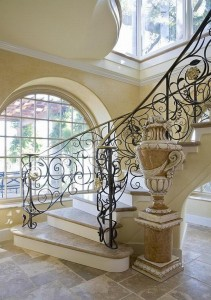 los angeles, metal stair railings, san fernando valley, Wrought iron stair railings, custom iron banister, handrails, wrought, Los Angeles, Calabasas, Beverly Hills, Malibu, Woodland hills, Encino, Tarzana