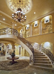 Custom Metal Stair Railing, iron stair railings, iron banisters, Los Angeles, San Fernando Valley